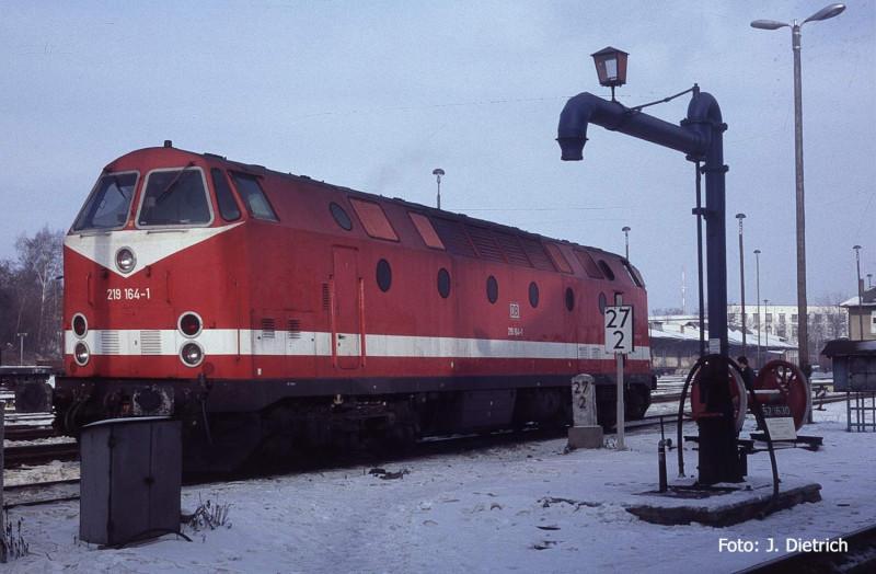 DB 219 164 Bw Zittau ca. 1998 Foto Joachim Dietrich Kopie
